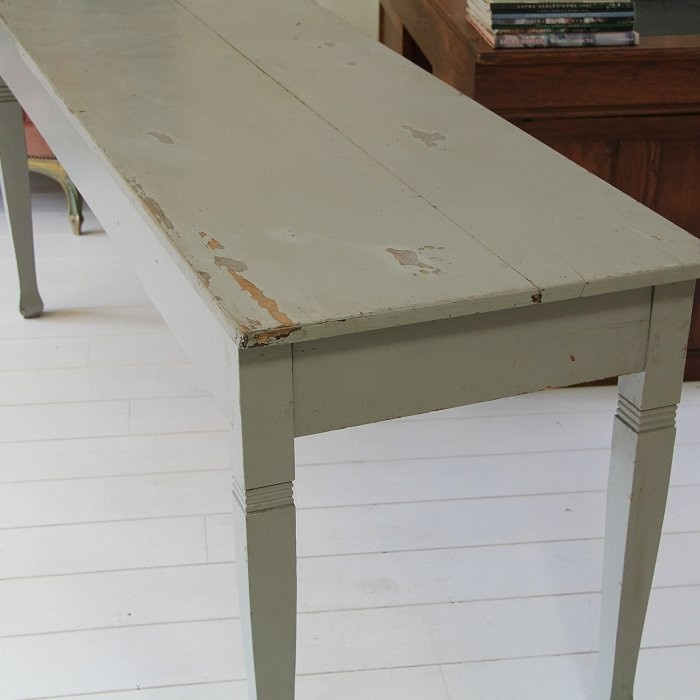 lange tafel in oude verf   Brocante   Pinterest   Tables and Interiors