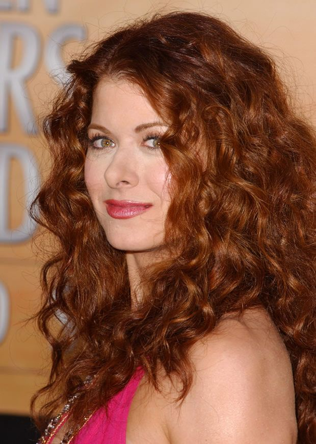 debra long flowing soft red Curly Hairstyles