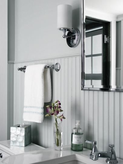 17 best ideas about wainscoting bathroom on pinterest - How to put down tile in bathroom ...