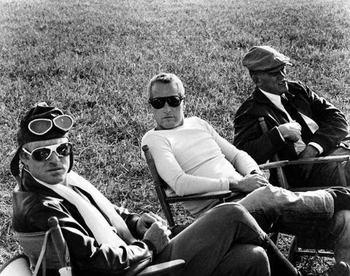 Redford, Newman, Svenson.: Newman Visit, Paul Newman Sunglasses, Robert Redford, Bw People, Sets, Casual Men, Visit Robert, Bo Svenson, Waldo Peppers