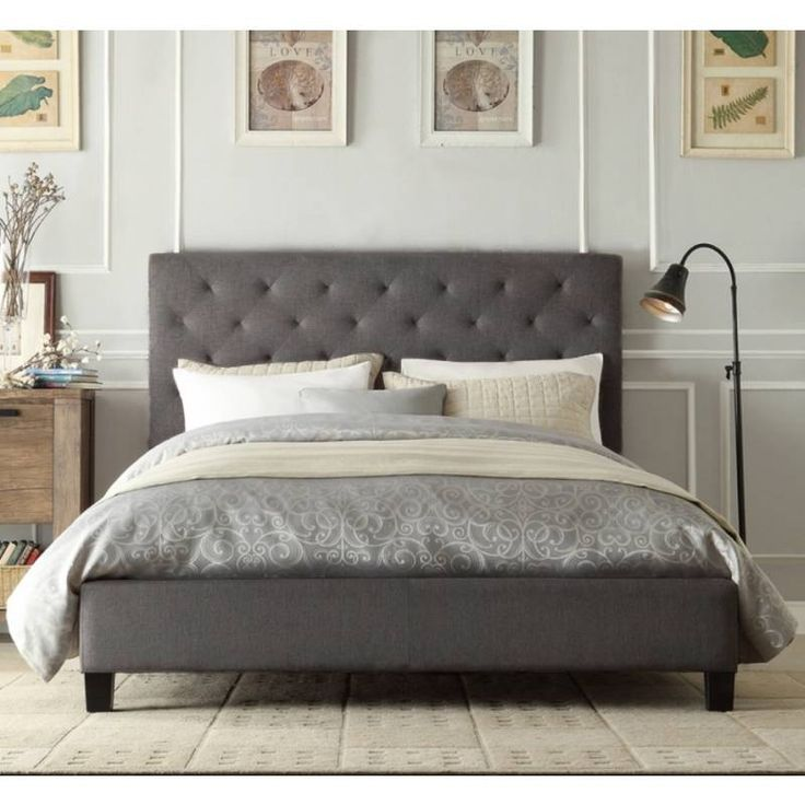 chester queen bed frame in grey fabric linen buy top sellers - Queens Bed Frame