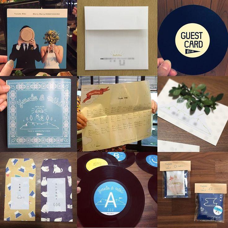 手作りした物印刷系左上から #招待状 #封筒 #ゲストカード #プロフィールブック & #メニュー #席次表 #席札 #ぽち袋 (白いところ) #テーブルナンバー #プチギフト #紙媒体 #diy  ほんとに沢山自分で作りました♡直前で作ったものもあります。 デザインが好きで美大の通信でデザインの勉強をしていたので、デザインの知識が自分にあって本当に良かったと思う。 これからはプレ花嫁さんサポートする方に回りたいなーと夢見ております。 #卒花  #第4期ジュニアアンバサダー  #日本中のプレ花嫁さんと繋がりたい #moiの結婚式レポ