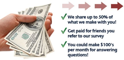 Survey Downline: Make Money Taking Surveys!!  SurveyDownline is a 100% free service where residents of The United States, United Kingdom, Canada and Australia can earn cash by taking paid surveys. Plus they give away a FREE iPad every month!Everyone could use some extra cash, and filling in online surveys is a simple way to get paid for your valuable opinions.