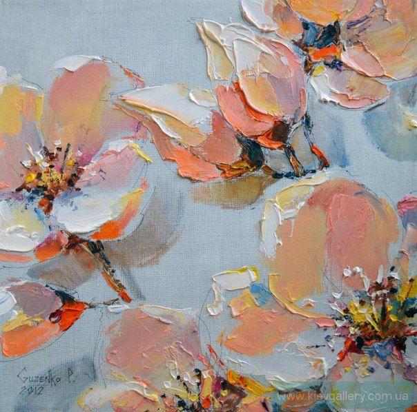 Весенние цветы (Мастихин, Масло)