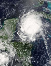 Hurricane Emily before landfall on July, 17th, 2005