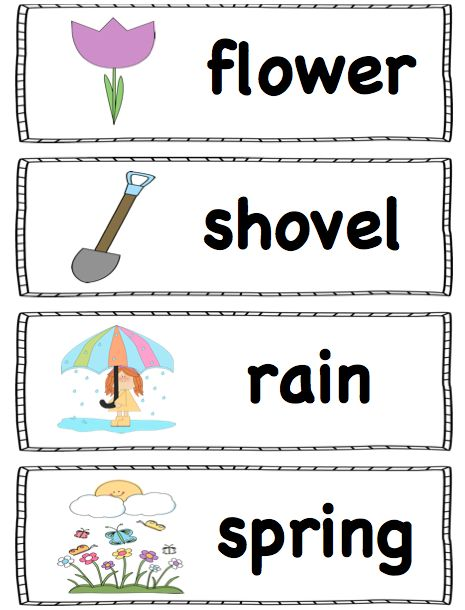 FREE Spring Words. For a word wall, pocket chart or writing center! (Ms. Makinson)
