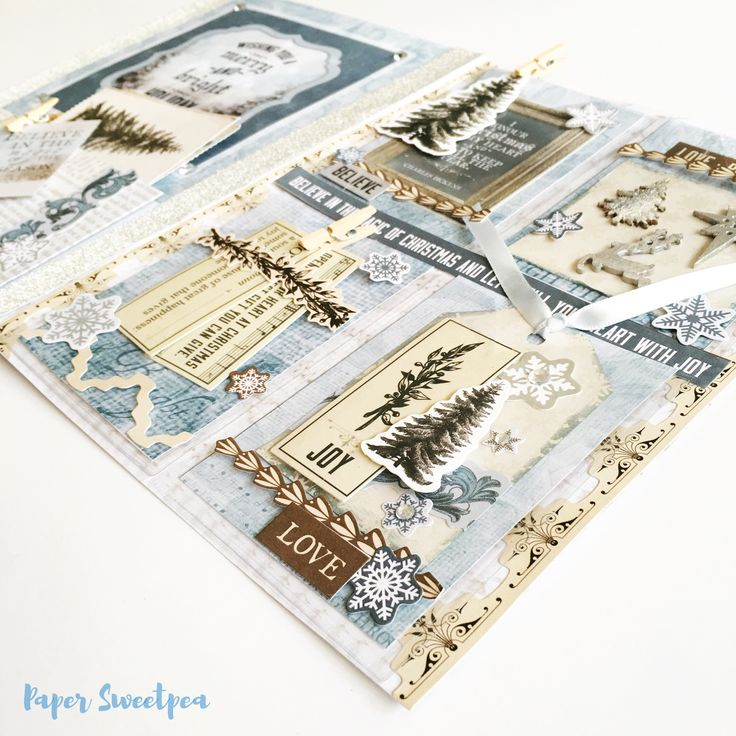 """Frosted"" Pocketmail , snailmail inspiration.New Kaisercraft Frosted Collection."