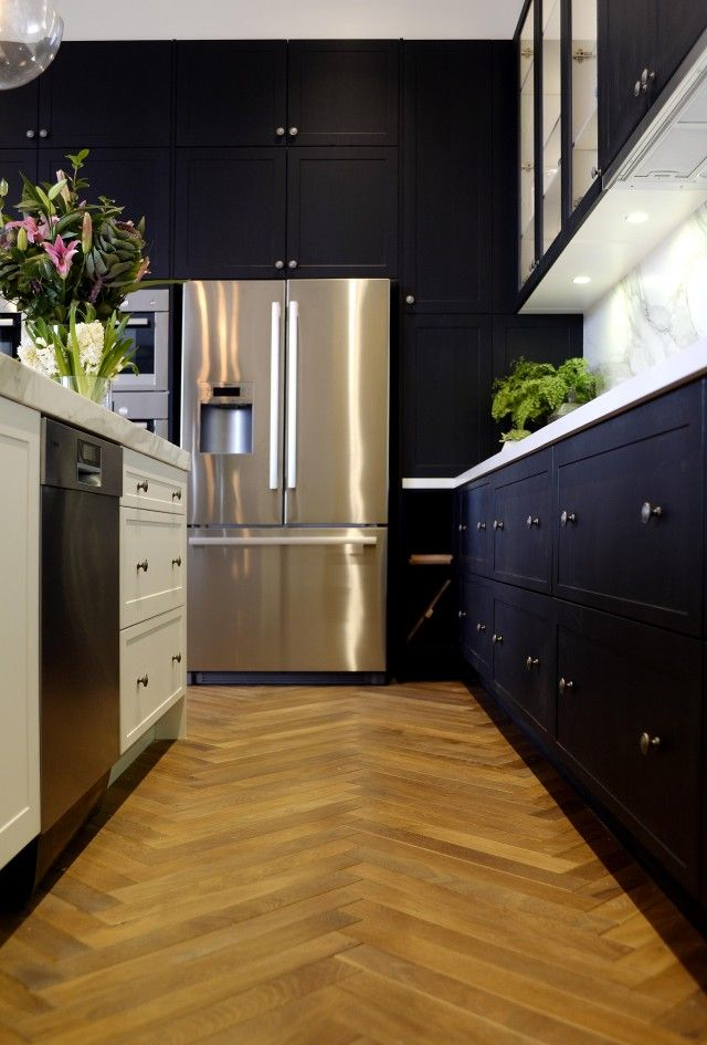 The Block Glasshouse kitchen Darren and Deeanne. Love the floor ... #Kitchen #Design #KitchenDetails #Ideas #Interiors