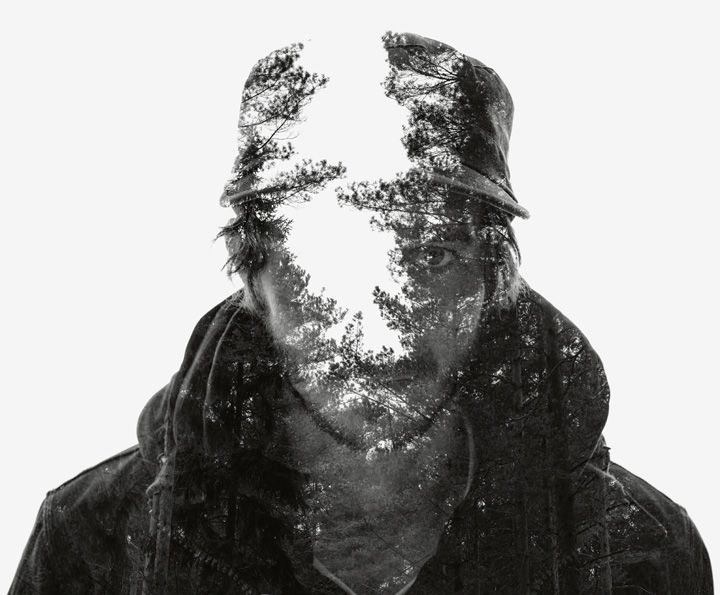 Multiple exposure portraits shot during winter in Finland by Christoffer Relander