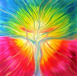Drzewo Życia Koloryduszy.com  Drzewo Życia, 2006  Adriana Karima  80 cm x 80 cm, olej  Drzewo Życia to symbol siły wewnętrznej, którą każdy nosi w sobie. To siła, by żyć w zgodnie ze sobą, słuchając swojego serca. Obraz emanuje piękną energią miłości i akceptacji. Daje inspirację, by odnaleźć w sobie boską moc. To obraz talizman, przynosi szczęście.  Obraz w kolekcji prywatnej. Dostępna reprodukcja obrazu.