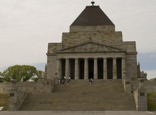 Melbourne Shrine of Remembrance in King's Domain.