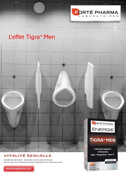 L'eefet Tigra+ Men - Grand prix de l'affichage indoor