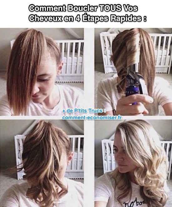 Quelques jolies boucles dans votre chevelure ajouteraient sûrement un peu de piment à votre look, n'est-ce pas ? Mais, qui a le temps de passer 45 min à patiemment chauffer mèche par mèche, ses cheveux avec un fer-à-friser... et ce chaque matin ?! Heureusement il existe un secret pour boucler......
