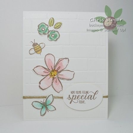 lovely colors in chris card garden in bloom brick wall embossing folder - Brick Garden 2015