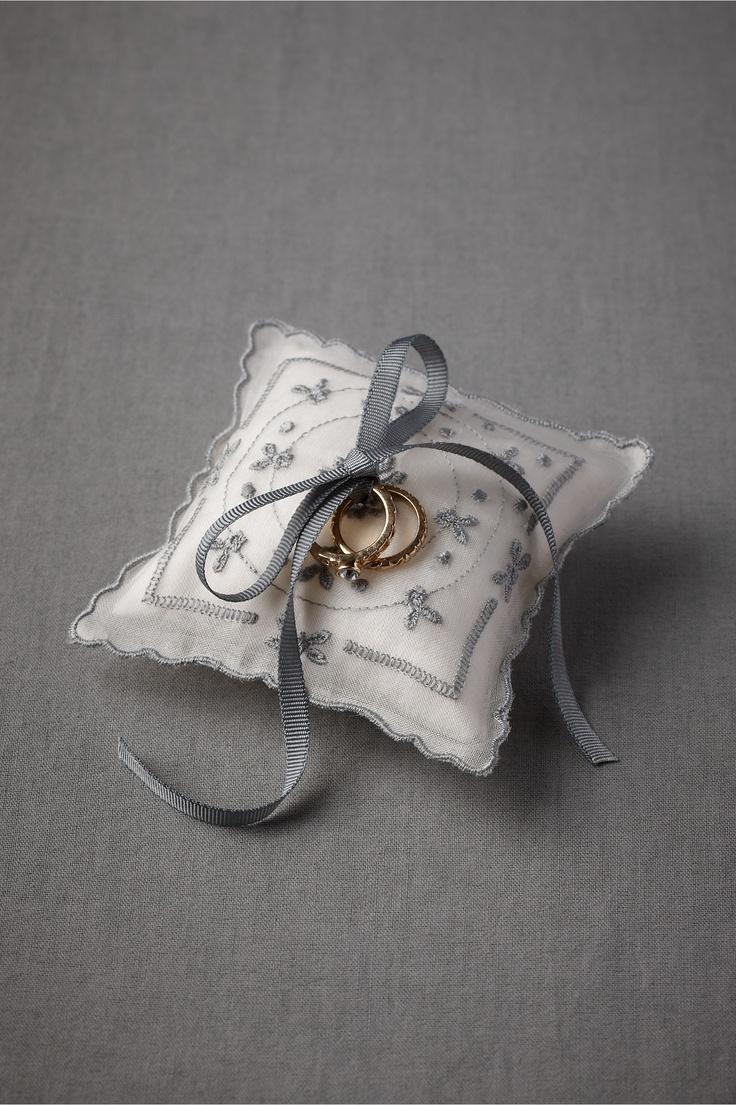 Blue Buds Ring Pillow from BHLDN #ringbearer