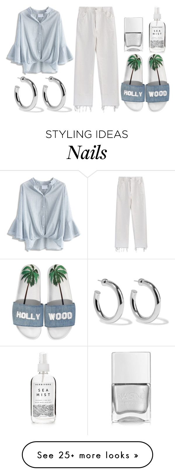"""""""ME"""" by ellelovesfashion07 on Polyvore featuring Herbivore, Nails Inc., Rachel Comey, Chicwish, Joshua's and Sophie Buhai"""
