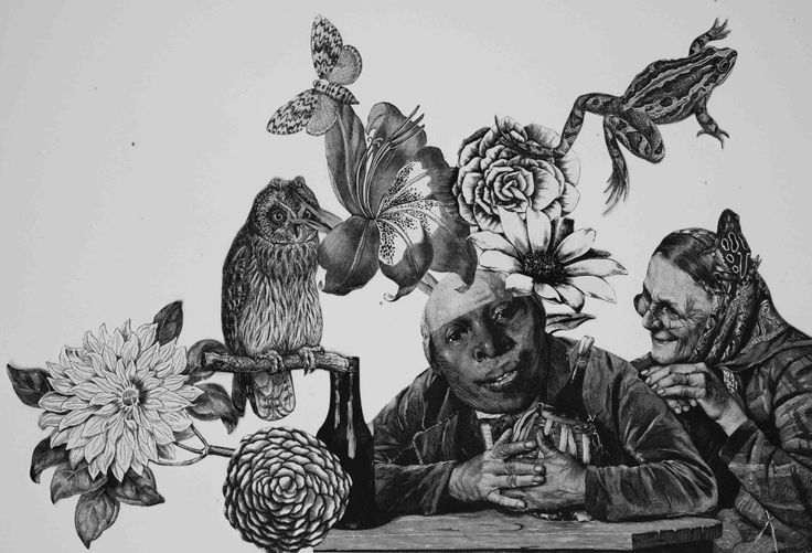 "KINGS ""UNTITLED"" COLLAGE ON PAPER, 2014,  cm 23x33  molin-corvo.com"