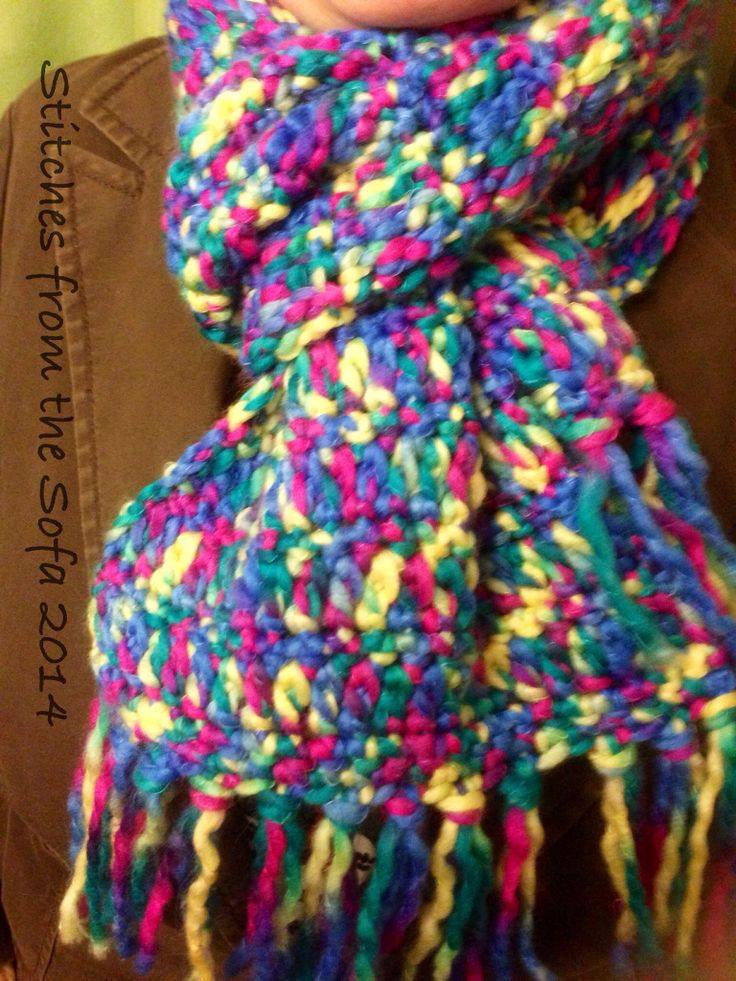 Crochet Scarf with Candyfloss