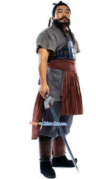 Ancient Korean Hero Armor Costumes Complete Set for Men