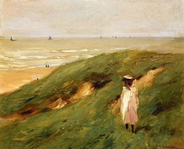 """Dune near Nordwijk with child"" - 1906"