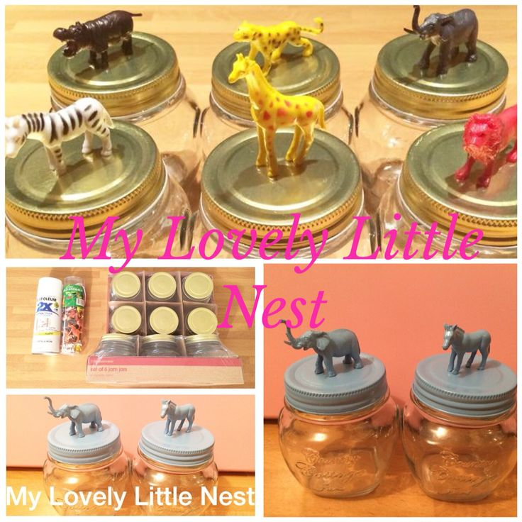 Kmart hack using the jam jars and animal figurines  https://www.facebook.com/Mylovelylittlenest