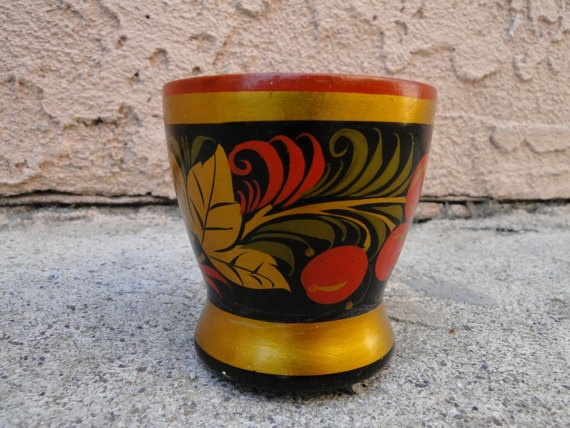 Russian Folk Art Painted Cup. $14.00,