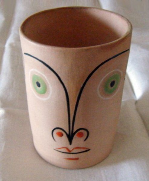 Untitled Ceramic Cup by Jean Cocteau (1958)