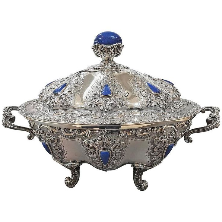 Sterling Silver Soup Tureen | From a unique collection of antique and modern sterling silver at https://www.1stdibs.com/furniture/dining-entertaining/sterling-silver/