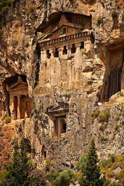 The Hellenistic temple fronted Tombs of Kaunos, Turkey