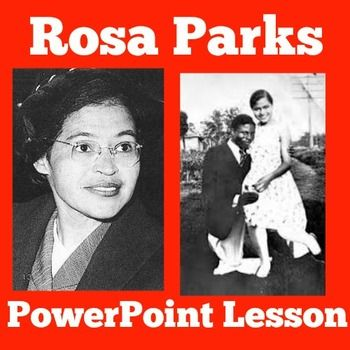 ROSA PARKS POWERPOINT | BLACK HISTORY MONTH ACTIVITYLearn key information about Rosa Parks and the Civil Rights Movement. Perfect for a lesson on Rosa Parks,  Black History Month, African Americans or the Civil Rights Movement.Follow up the lesson with my ROSA PARKS TIMELINE:Rosa Parks Timeline  Visit and follow  GREEN APPLE LESSONS for more great resources!
