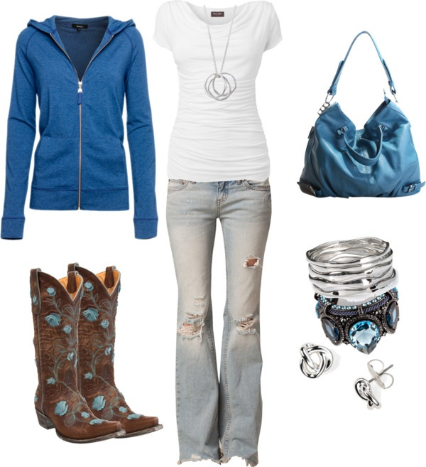 """Blue and White"" by sarah-jones-3 on Polyvore"