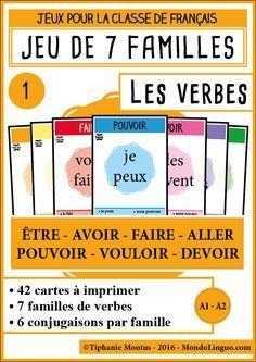 7F - Les verbes 1 | Mondolinguo - Français