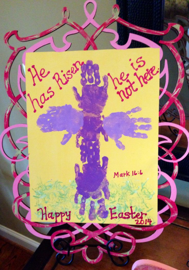 Handprint Cross For Easter keepsake