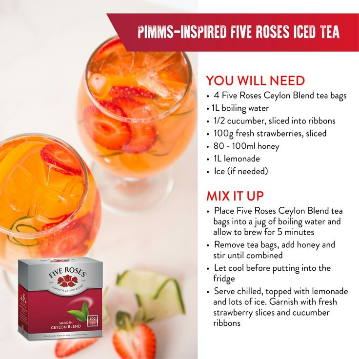 Pimms inspired iced tea