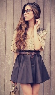 DefinedByNothing - Leather skater skirt