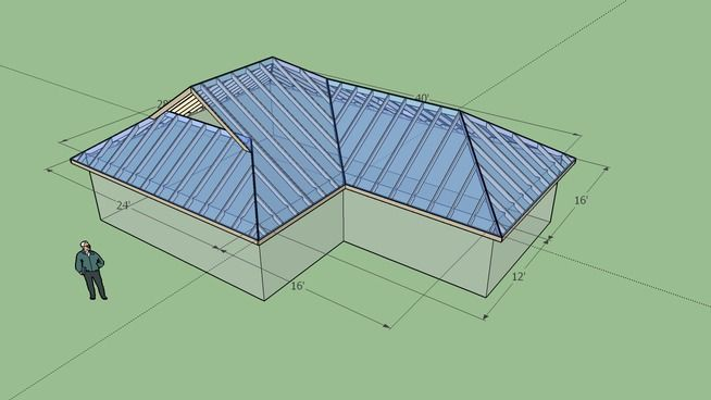 Large Preview Of 3d Model Of Dutch Gable Roof 1 Rev 2 In