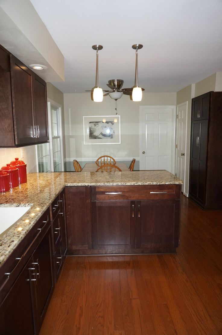 Merillat Classic Cabinetry, Cherry with Pecan Stain. Full ...