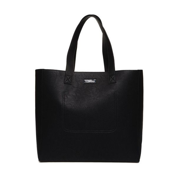 Superdry Cross Stitch Elaina Tote Bag ($55) ❤ liked on Polyvore featuring bags, handbags, tote bags, black, snap purse, tote purses, tote handbags, zipper handbags and zipper purse