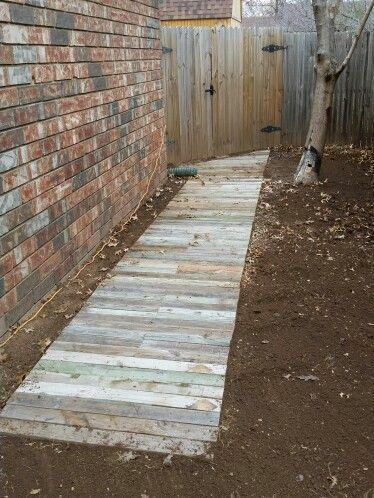 Side Walkway Landscaping