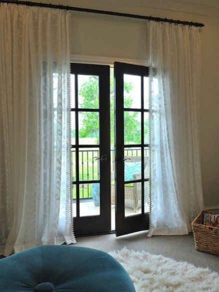 French Door Curtain Ideas - http://www.homeizy.com/french-door-curtain-ideas/