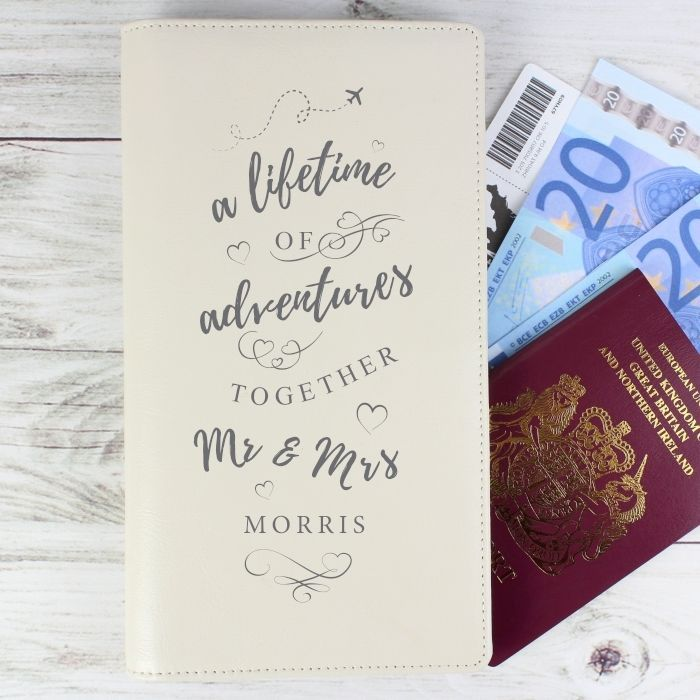 Personalised Mr & Mrs Cream Passport Documents Holders - Wedding Passport Holder