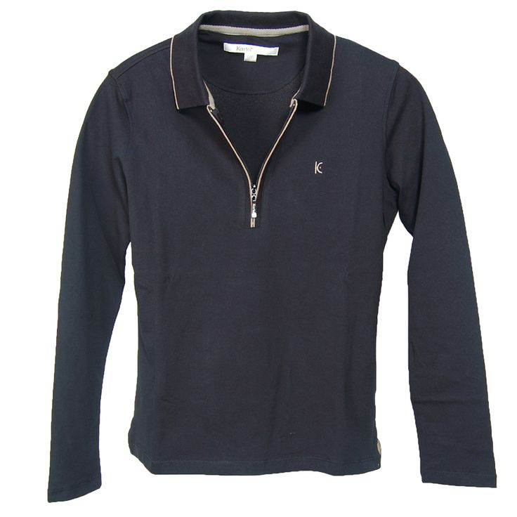 Kew8-02 Ladies Quarter Zip Long sleeve collared top.