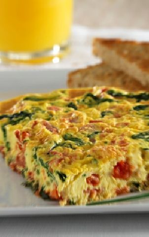 Low FODMAP and Gluten Free Recipe - Vegetable Fritatta http://www.ibssano.com/low_fodmap_recipe_vegetable_frittata.html