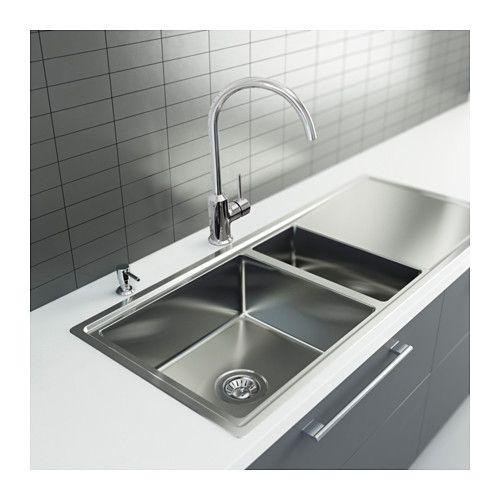 BREDSKÄR Inbouwspoelbak 1 1/2 bak&afdruip  - IKEA