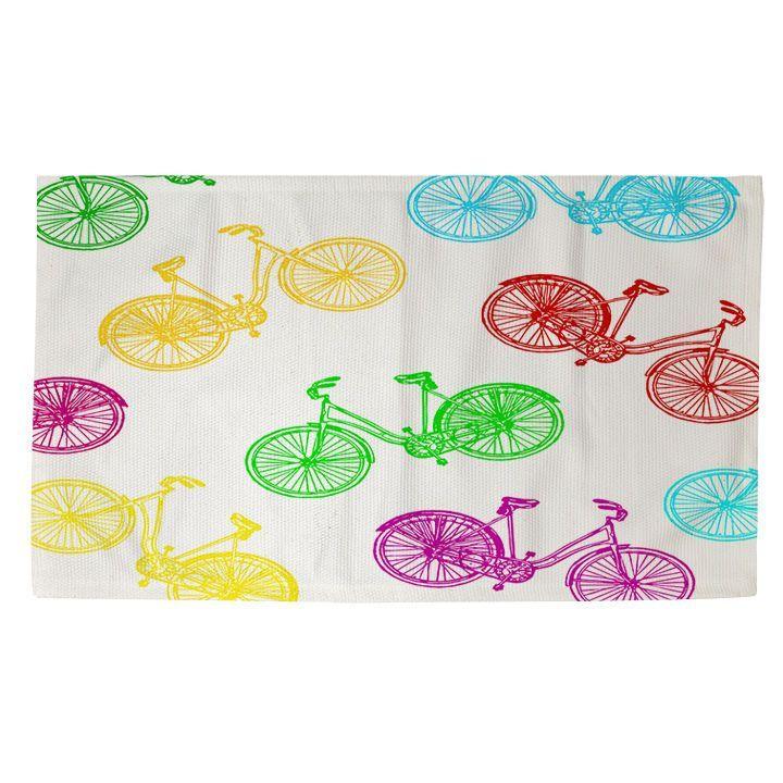 Thumbprintz Neon Party Bike Pattern Rug