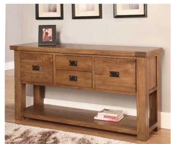 Rustic Oak Hall Table will catch one's eyes whenever anyone visits your house with our fashionable and authentic quality furniture. More details: http://solidwoodfurniture.co/product-details-oak-furnitures-3105-rustic-oak-hall-table-.html