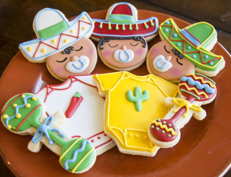 cinco de mayo cookies | Cinco De Mayo Baby Shower
