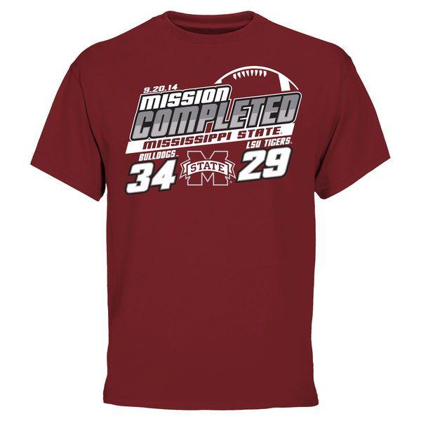 Mens Mississippi State Bulldogs vs. LSU Tigers Maroon 2014 Score T-Shirt - $9.99