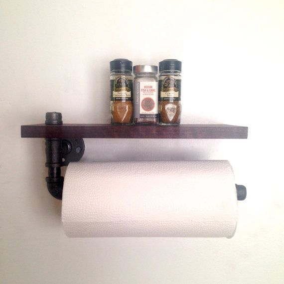 how to make toilet paper holder out of galvanized pipe - Google Search