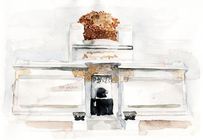 Sezession - Joseph Maria Olbrich . watercolour . aquarell . ada k.a